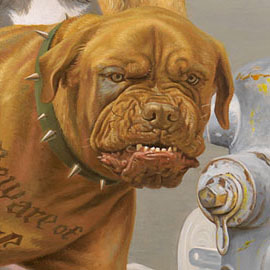 Click for detailed images of It's a Dog's World Art by Victor Powell